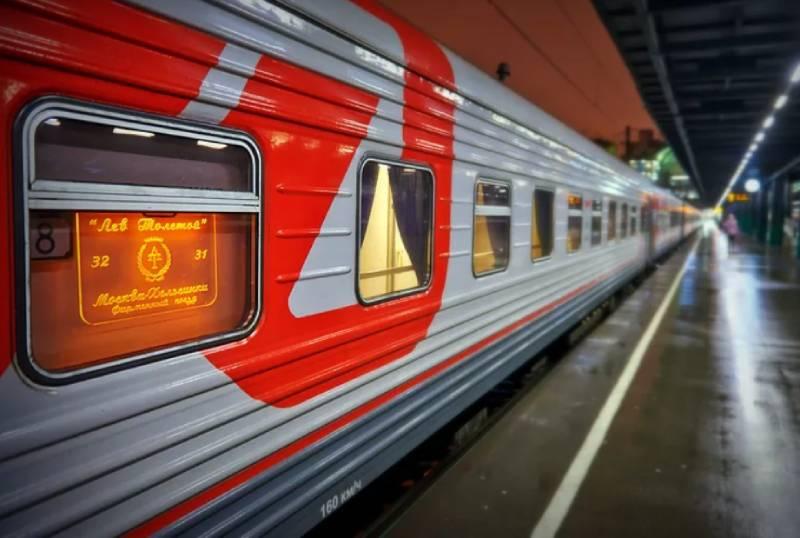 Фирменный поезд Лев Толстой Россия