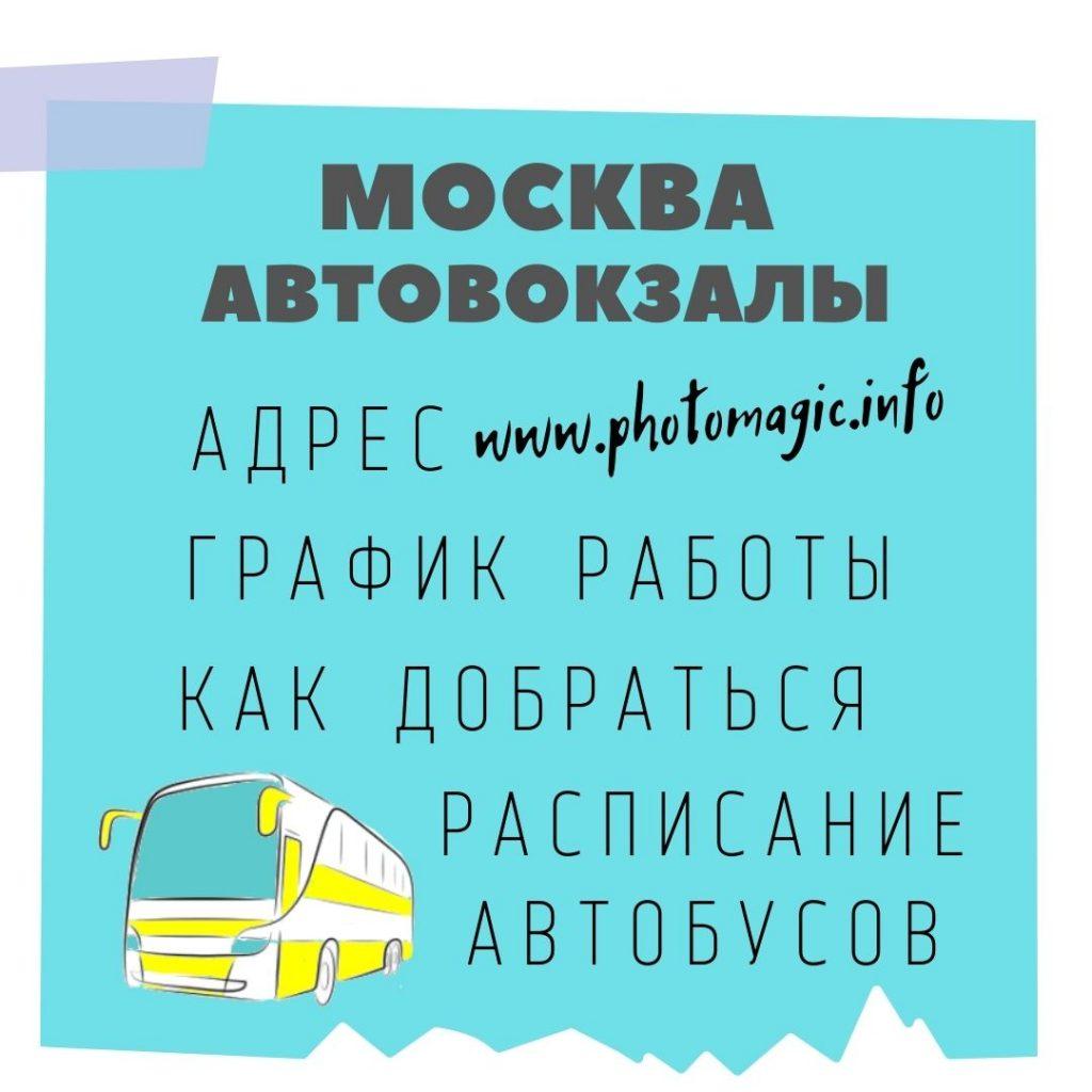 Москва Автовокзалы