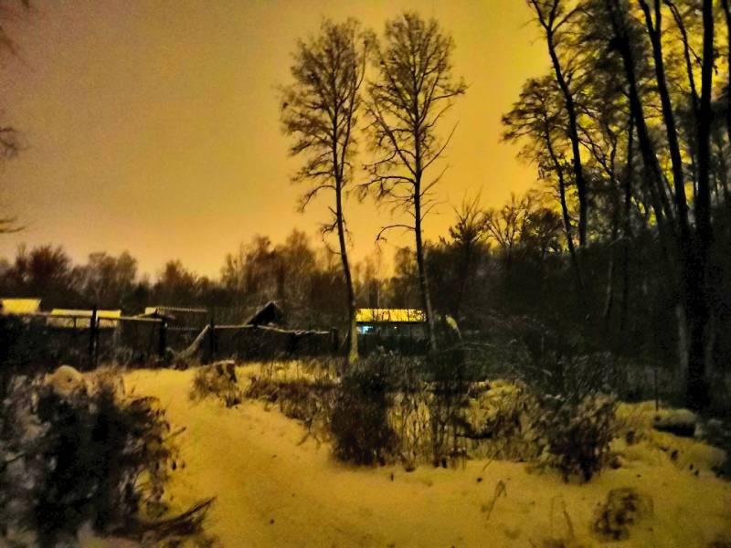 Сумерки зимой Дома