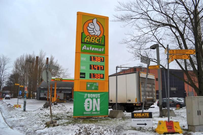 Автозаправка Хельсинки Финляндия