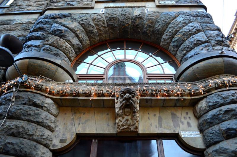 Необычное оформление фасад здания Хельсинки
