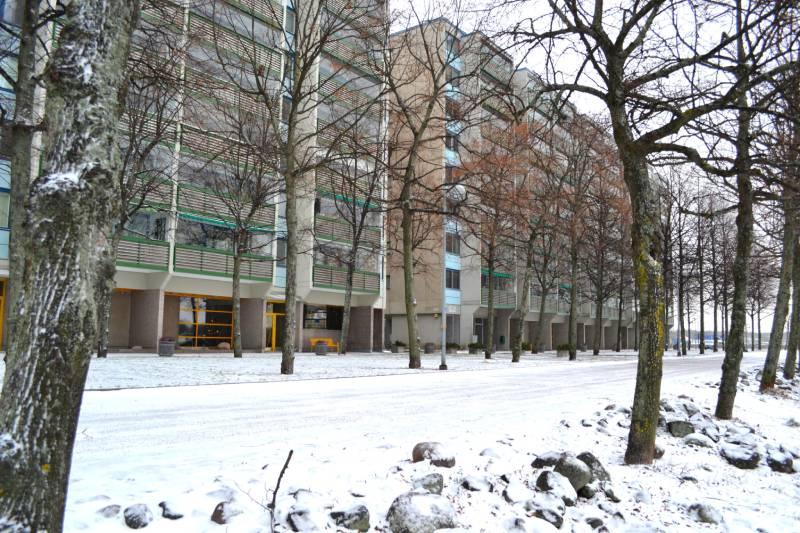 Хельсинки Набережная Многоэтажки