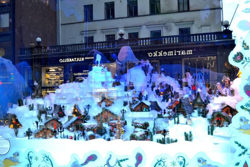 Хельсинки Новогодняя витрина Сказочный город