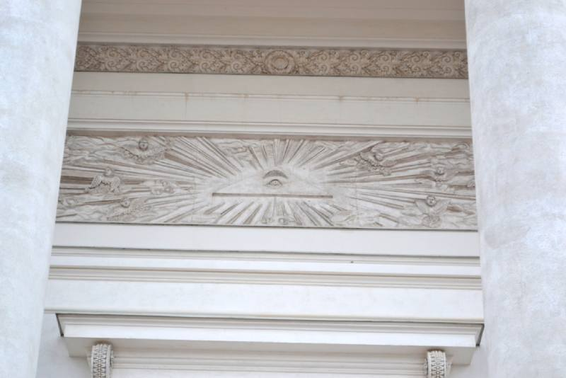 Масонский символ на соборе Святого Николая в Хельсинках
