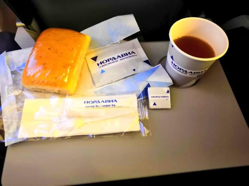 Что входит в набор еды авиакомпании Нордавиа
